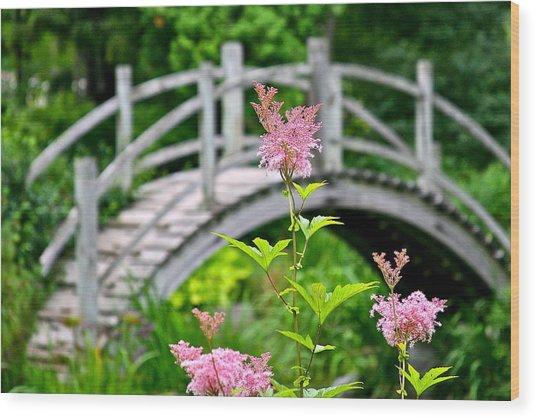 Pink Flower Wood Print by Robert Joseph
