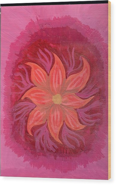 Pink Fusion Wood Print by Laura Lillo