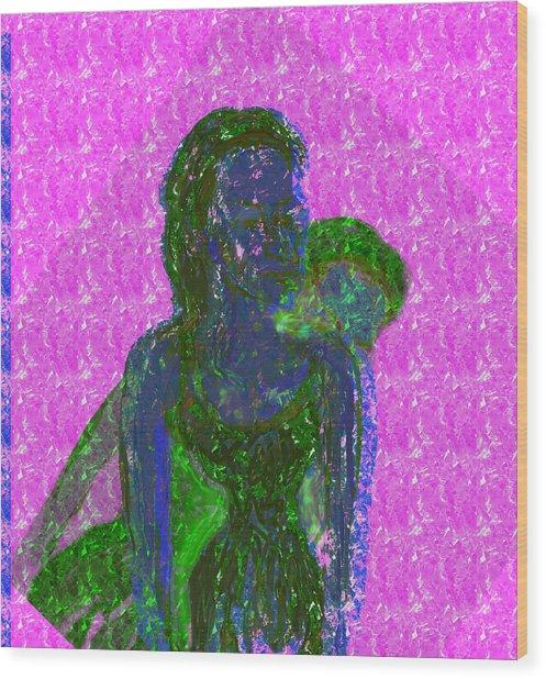 Pink Horizon Wood Print by Noredin Morgan
