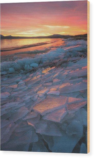 Pink Ice Wood Print
