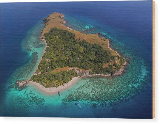 Wood Print featuring the photograph Pink Island In Flores, Indonesia by Pradeep Raja PRINTS