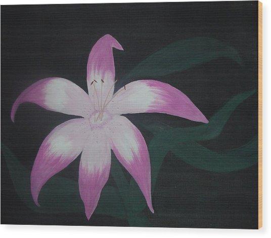 Pink Lily Wood Print by Melanie Blankenship