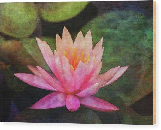 Pink Lotus 4134 Idp_2 Wood Print