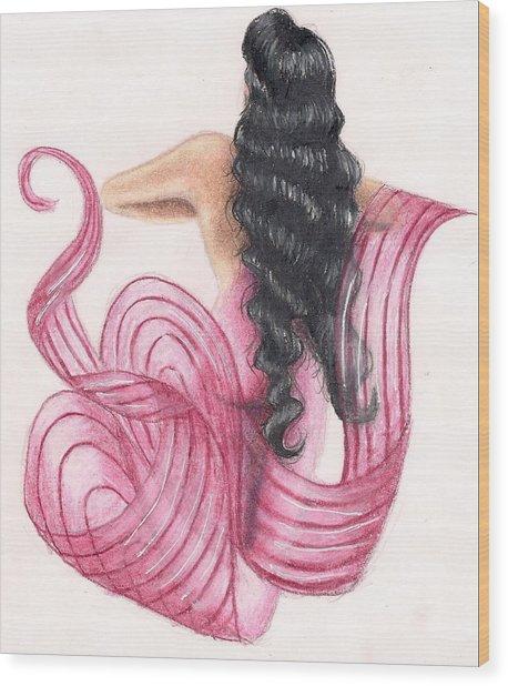 Pink Mermaid Wood Print by Scarlett Royal