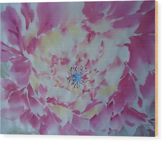Pink Peony 002 Wood Print