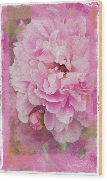 Pink Peony 2 Wood Print