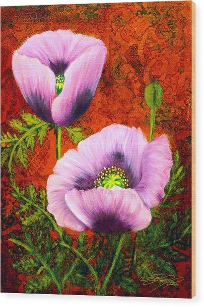 Pink Poppies Wood Print by Lynn Lawson Pajunen