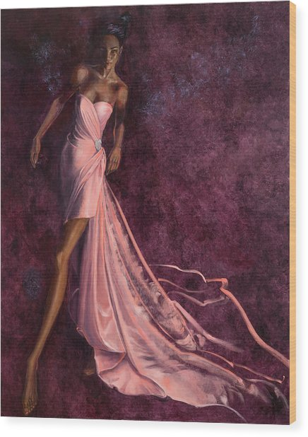 Pink Prowl Wood Print by Barbara Tyler Ahlfield