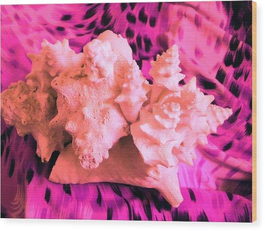 Pink Ribbon Donation Wood Print by Arlin Jules