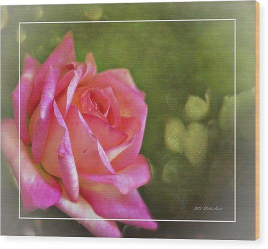 Pink Rose Dream Digital Art 3 Wood Print