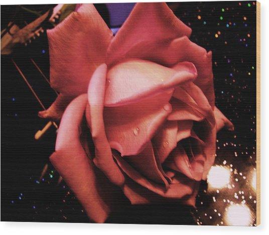 Pink Rose Wood Print by Nereida Slesarchik Cedeno Wilcoxon
