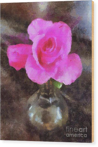 Pink Rozalea Wood Print