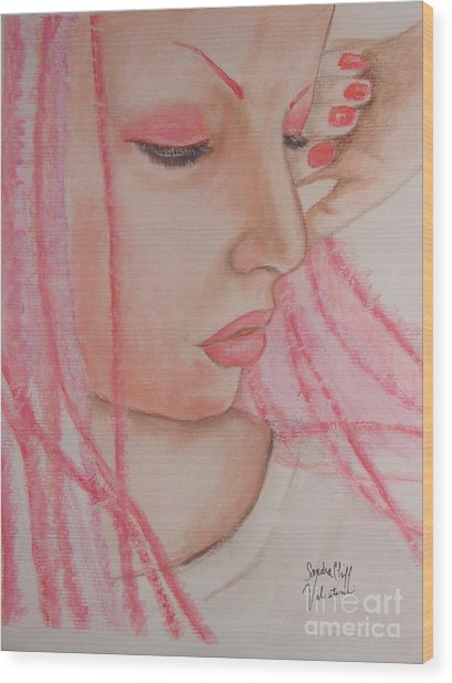Pink Wood Print by Sandra Valentini