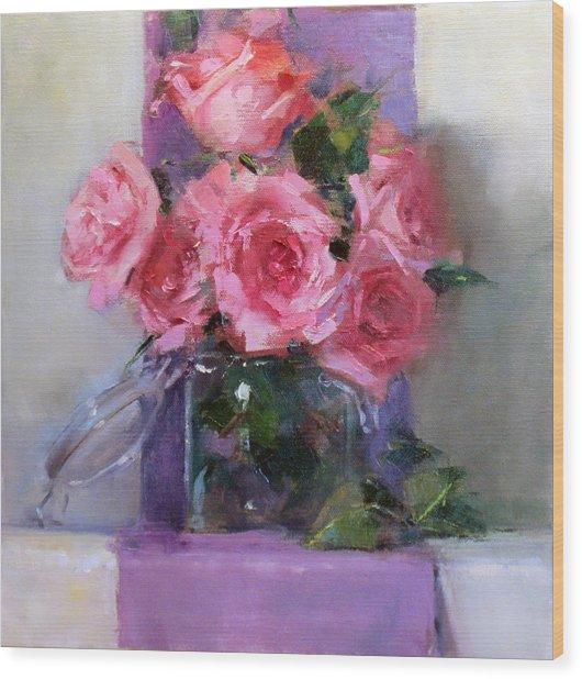Pink Tease Wood Print by Chris  Saper