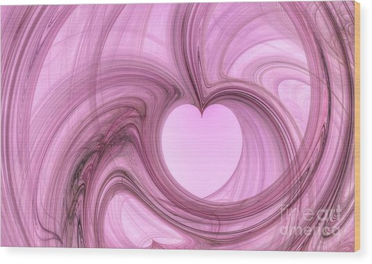 Pink Valentine Wood Print by Isabella Shores