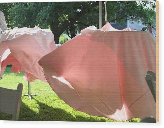 Pink Wispers Wood Print