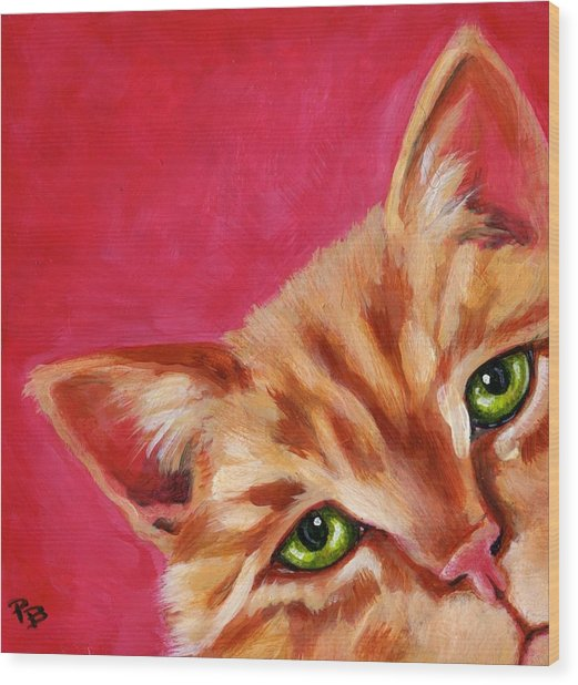 Pink With Attitude Wood Print by Pat Burns