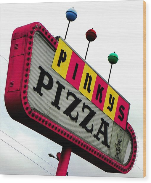 Pinky Is My Name And Pizza Is My Game Wood Print