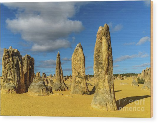 Pinnacles 6 Wood Print