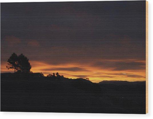 Pinole Valley At Dawn Wood Print