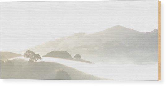 Pinole Valley Morning Mist Wood Print