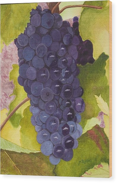 Pinot Noir Ready For Harvest Wood Print