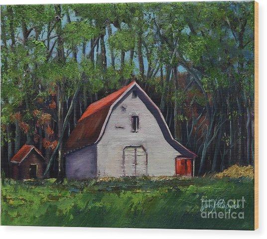 Pinson Barn At Harrison Park Wood Print