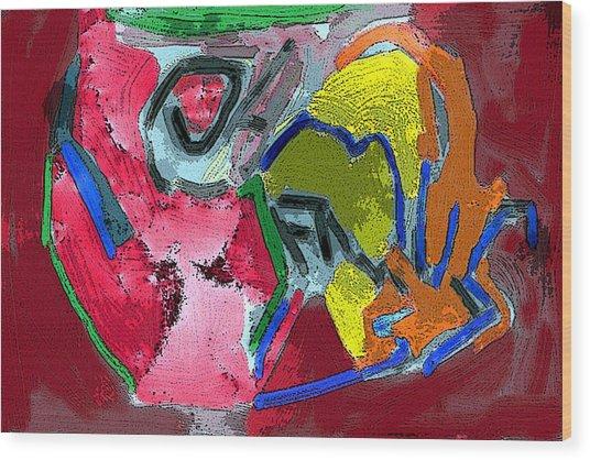 Pintura Moderna 1 Wood Print by Carlos Camus