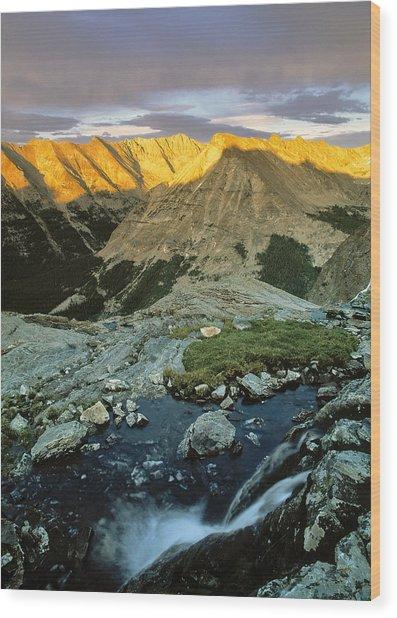 Pioneer Mountains Wood Print by Leland D Howard