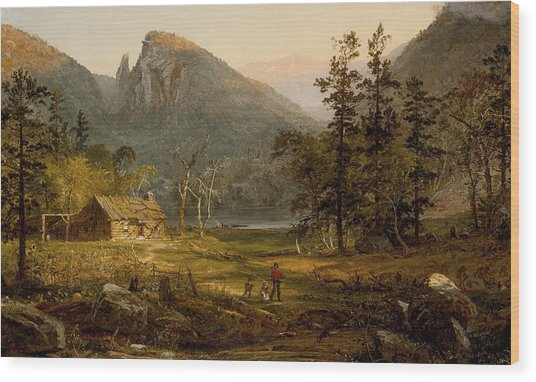 Pioneer's Home Eagle Cliff  White Mountains Wood Print