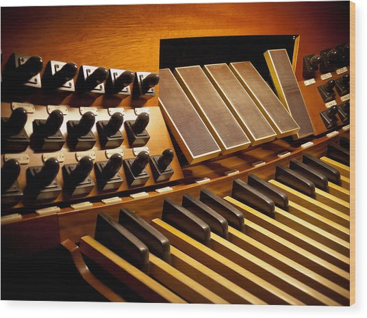 Pipe Organ Pedals Wood Print