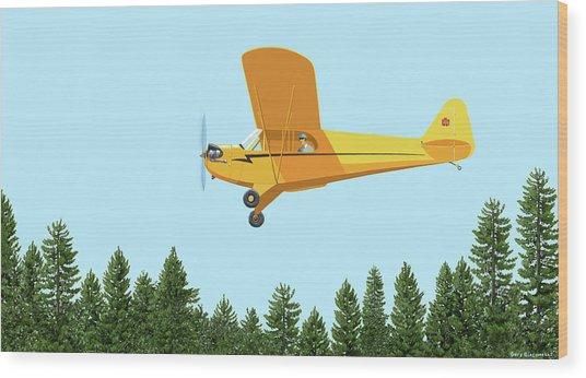 Piper Cub Piper J3 Wood Print