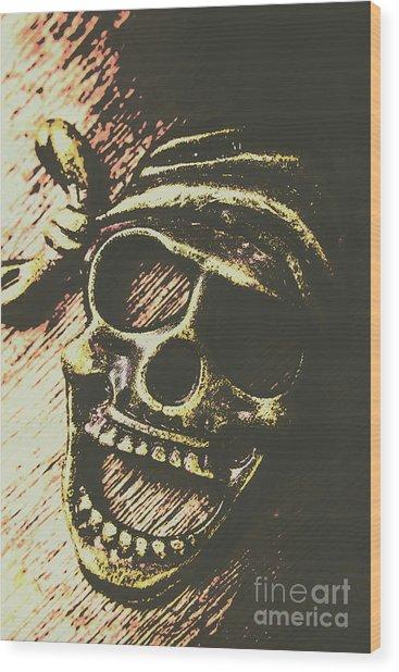 Pirate Metal Wood Print