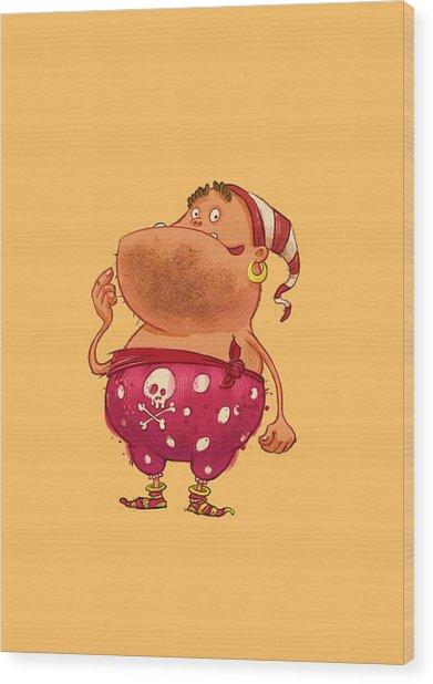 Pirate Thug Wood Print