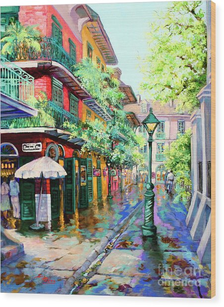 Pirates Alley - French Quarter Alley Wood Print