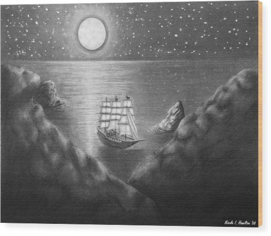 Pirates' Cove Wood Print by Nicole I Hamilton