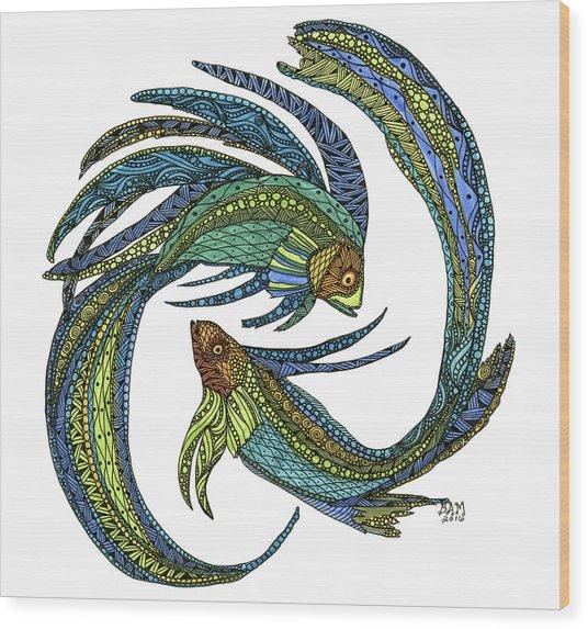 Pisces Wood Print