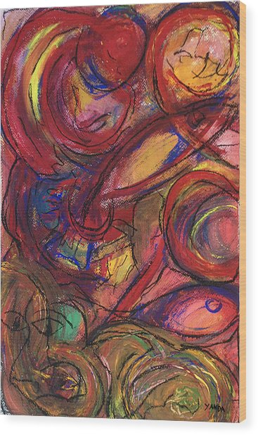 Pisces Symbalic Wood Print