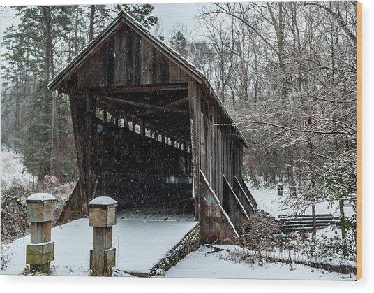 Pisgah Covered Bridge - Modern Wood Print