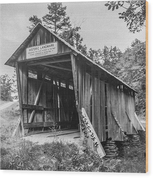 Pisgah Covered Bridge No. 1 Wood Print