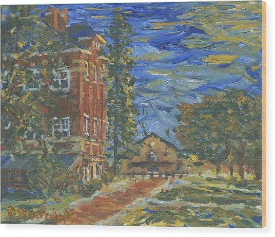 Piskor Hall On An August Evening Wood Print