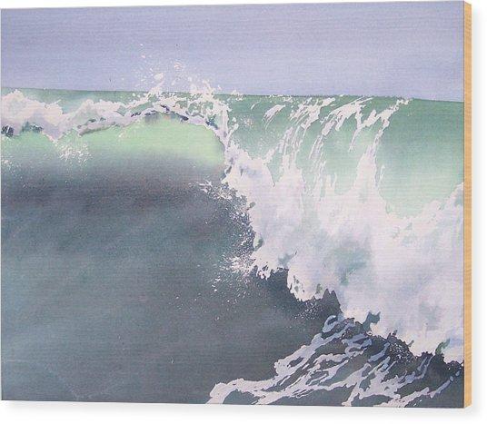 Pismo Wave Number Eight Wood Print by Philip Fleischer