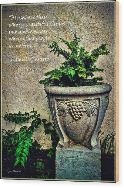 Pissarro Inspirational Quote Wood Print