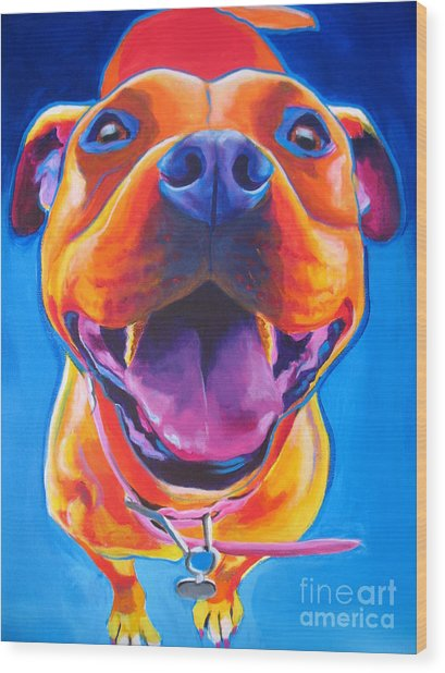 Pit Bull - Lots To Love Wood Print