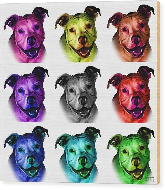 Pitbull Terrier - F - S - Wb - Mosaic Wood Print