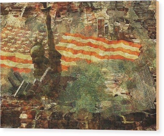 Pitfall Wood Print by Haruo Obana