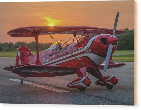 Pitts Sunset Wood Print