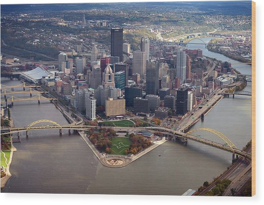Pittsburgh 8 In Color  Wood Print