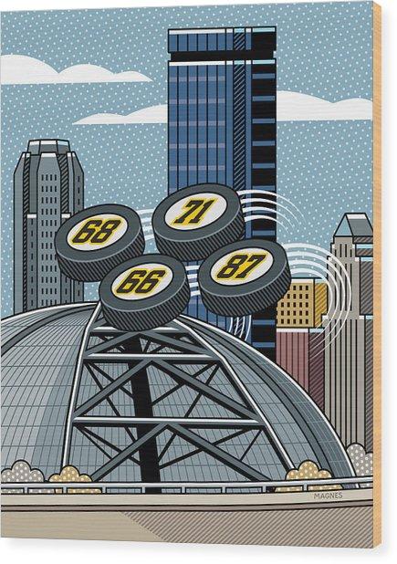 Pittsburgh Civic Arena Wood Print