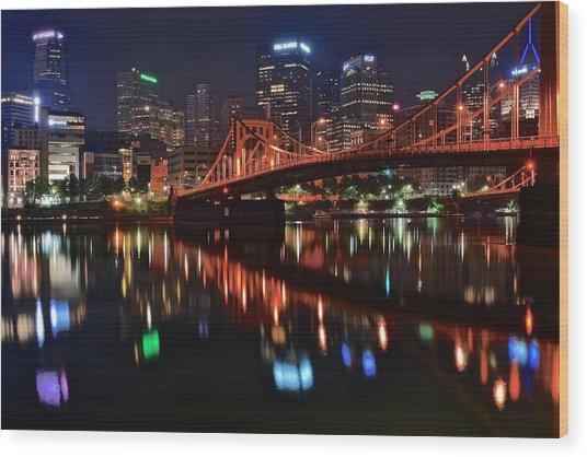 Pittsburgh Lights Wood Print